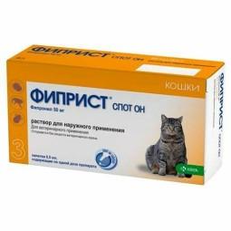 Фиприст (KRKA) Капли от блох и клещей Спот Он для кошек и котят
