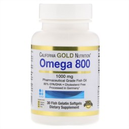 California Gold Nutrition Omega 800 by Madre Labs 1000 мг Softgels